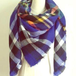 Cashmere Plaid Tartan Blanket Scarf